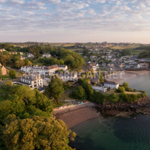 Dunmore East Aerial Sunrise 1 - Peter Grogan Stock Photography