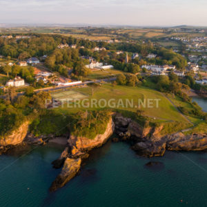 Dunmore East Aerial Sunrise 2 - Peter Grogan Stock Photography
