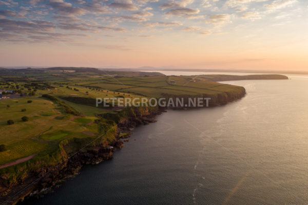Dunmore East Aerial Sunrise 3 - Peter Grogan Stock Photography