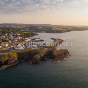 Dunmore East Aerial Sunrise 4 - Peter Grogan Stock Photography
