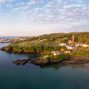 Dunmore East Aerial Sunrise 5 - Peter Grogan Stock Photography