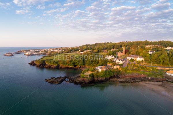 Dunmore East Aerial Sunrise 5 - Peter Grogan Stock Photography