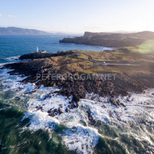 Fanad Head Lighthouse Donegal Aerial 1 - Peter Grogan Stock Photography
