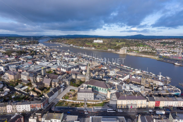 Waterford City Quays Aerial 3 - Peter Grogan Stock Photography